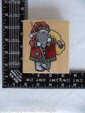 Country Santa Wood Mounted Rubber Stamp Rubber Stampede A1441H Gently Used