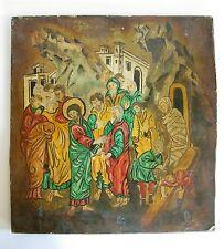Ältere Holz Ikone Heiligenfigur
