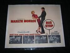 "Original 1956 BUS STOP Linen Backed 22 X 28"" 1/2 Sheet MARILYN MONROE Don Murray"
