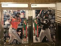 Lot 2020 Topps Holiday Yordan Alvarez RC SP Santa Luis Robert SP Candy Cane