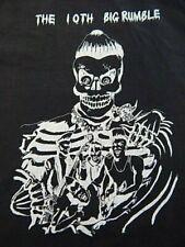 Vintage Psychobilly 10th Big Rumble Black Concert T Shirt Zombie Monster Jam Top