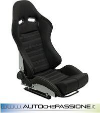 Sedile Sportivo Type BS5 reclinabille posteriore vetroresina  Colore Nero