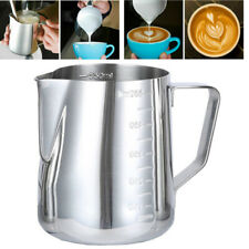 Measurement 304 Stainless Steel Milk Frothing Pitcher Creamer Cup For Latte Art