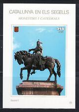 CATALUÑA EN SELLOS HOJA BLOQUE Nº 93 MONASTERIOS Y CATEDRALES/JAIME I