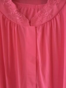 Shadowline Women's Petals Long Sleeve Pajama ROSY PINK NEW MADE IN USA SZ 36