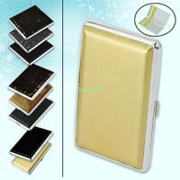 Elegant Metal Cigarette Box Golden Strips Map Pattern Tobacco Case Holder Pouch