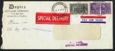 Advertising Duplex Envelope Co. February 5 1954 Richmond VA AirMail Spec. Deliv.