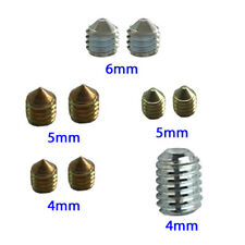 M6 M5  M4 Grub Screw Door Handles Spindle Brass Silver Stainless Steel Finish