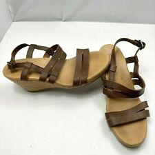 TEVA Arrabelle Brown Strappy Leather Wedge Sandals Womens Size 8 1010908