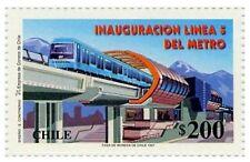 Chile 1997 #1870 Inaguracion Linea 5 del Metro MNH