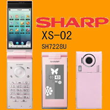 Sharp SH7228U XS-02 Pink 8MP WiFi DualScreen Unlocked 3G Android Flip Smartphone