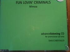 FUN LOVIN' CRIMINALS ~'MIMOSA'~RARE UK ADVANCE PROMO ONLY CD 1999~NEW