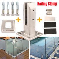 Edelstahl Geländerpfosten Glashalter Glass Clamp Glasgeländer für balkon Pfosten