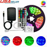 Led Strip Lights 2835 Multicolor Flexible RGB with 44 Key Remote Power Adapter