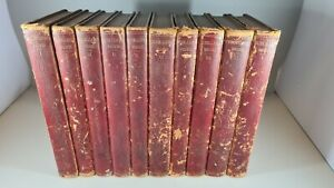 1844 Schiller's Works Leather Spines - Great Condition - Very Rare - German