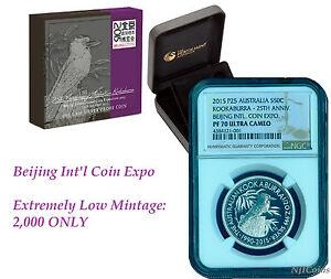 2015 Beijing Coin Show Australia PROOF Silver Kookaburra NGC PF70 1/2 oz w/ OGP