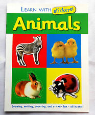 Learn  Animal Name With Sticker  Pre School Kids Early Learning Activity Book