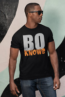 Bo Knows BO JACKSON T-Shirt Bo Nix College Football Fan Tecmo Bowl  Parody Shirt