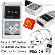 12 canales de ECG Holter ECG / EKG 24 Horas Holter ECG Monitor + Software