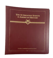 50 Greatest Events In American History Stamp Collection Album Binder 12 Pages