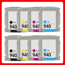 8 Chipped NON-OEM Ink Cartridges for hp 940XL Officejet Pro 8000 8500 8500A A809