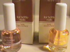 Avon Nail Advantage for brittle nails NIB LOT OF 2 FREE SHIP MAKE OFFER #D2