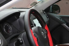 "14.75"" Racing Black & Red Steering Wheel Cover Wrap PVC Leather 47019 Sew on Kit"