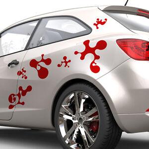 Autoaufkleber Kleckse Abstrakt Swirls Formen Dekorset Aufkleber Set Auto #1191