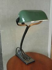 antique iron table lamp niam light notary banker Bauhaus library reading desk