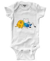 Infant Gerber Onesies Bodysuit One-Pieces Baby Shower Finn Jake Napping Sleeping