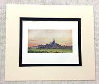1906 Antico Stampa Ely Cathedral Landscape Vista Da Il Fens Vecchio Architettura