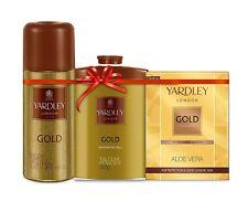 Yardley Gold Kit Men-Body Spray 150ml,Talcum Powder 250g,Aftershave lotion 100ml