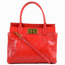 NEW Marc Jacobs Flame Red BUDDY Quilted Satchel Bag $1295+ Made in Italy