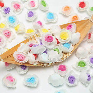 Artificial Flowers 50/100/200 Pieces 3CM Foam Roses Wedding Bridal Accessories