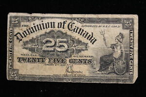 1900 Dominion of Canada. 25 Cents. Shinplaster. Saunders. (#2)