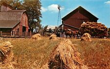 Old Order Amish Farm Kalona Iowa Twin County Dairies Threshing Barn Postcard