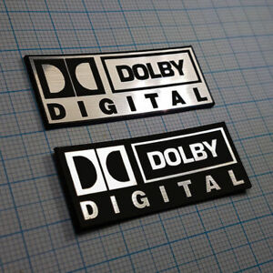DOLBY DIGITAL - Metallic Badge Sticker Set - 2 pieces