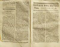 1779 NOTIZIE DEL MONDO: SANTA MARTA COLOMBIA; SENEGAL; STATI UNITI; FISICA; ecc.