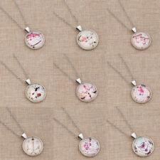Cartoon Constellation Cabochon Glass Necklace Zodiac Pendant Jewelry Long Chain