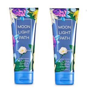 Bath and Body Works MOONLIGHT PATH Ultra Shea Body Cream ~ 8 fl.oz.( Lot of 2 )