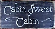 CABIN SWEET CABIN Mountain Getaway Retreat House SIGN Plaque Wooden U Pick Color