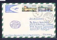 52860) LH 1.Nacht-LP Hannover - Stuttgart 26.10.92, Karte ab Malta Stpl violett
