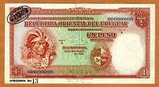 SPECIMEN, Uruguay, 1 Peso, L. 1935, P-28 (28s), Ch. UNC > Rare
