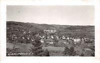 C67/ Wilmington Vermont VT Real Photo RPPC Postcard 1947 Birdseye View