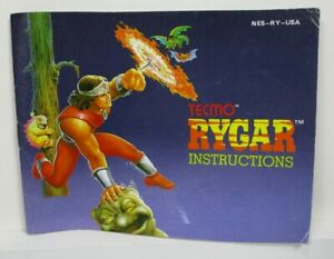 Vintage NES Nintendo Instruction Manual TECMO Rygar 1987