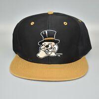Wake Forest Demon Deacons Vintage 90's Logo 7 Adjustable Snapback Cap Hat - NWT