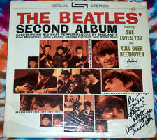 BEATLES Second Album 2nd  STEREO pressing PROMO punch hole SIGNED nm SHRINK #6