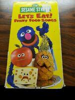 Sesame Street Let's Eat! Funny Food Songs VHS 1998 vintage grover