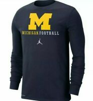 Air Jordan Nike Michigan Wolverines Football Long Sleeve T-Shirt Mens 2XL/3XL