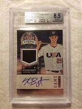 2015 USA Baseball Stars and Stripe Game Gear Material Signatures #56 Kris Bryant